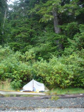 Camp 1, Shushartie Bay