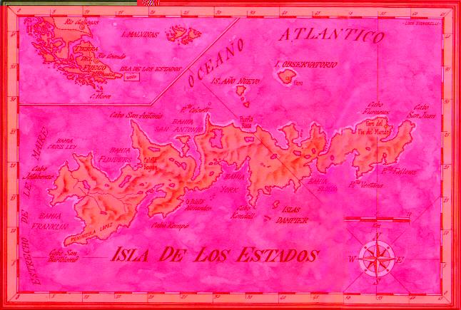 isla de los estados mapa