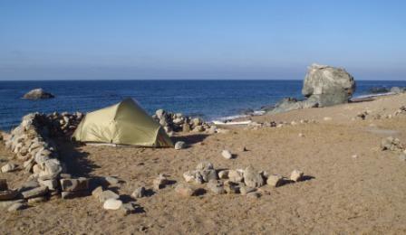 Catalina campsite